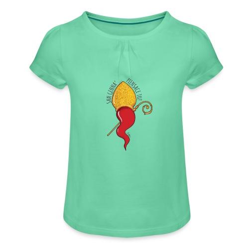 San Gennariello - Maglietta da ragazza con arricciatura