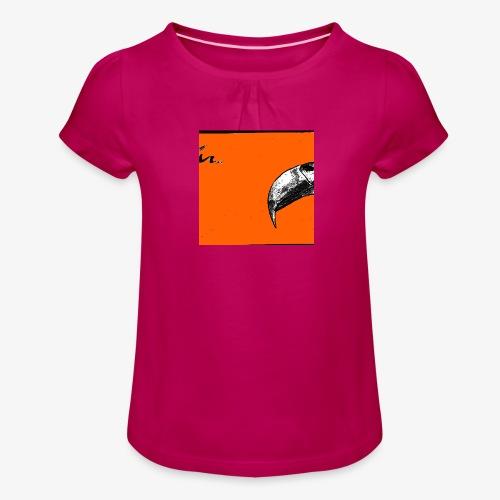 Beak Original Artwork - T-shirt med rynkning flicka