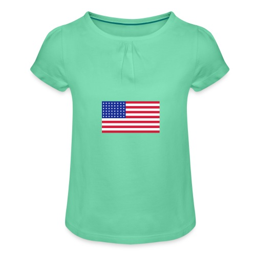 AVM 48 star flag in 3 color RGB VECTOR - Meisjes-T-shirt met plooien