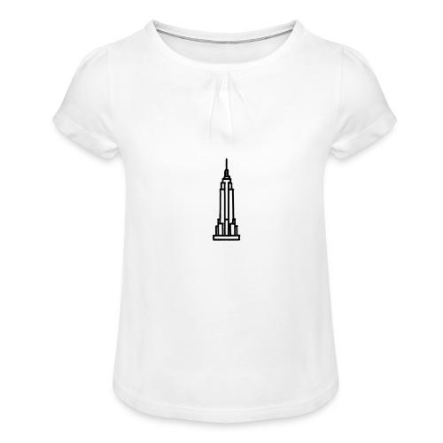 Empire State Building - T-shirt à fronces au col Fille