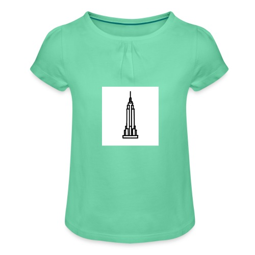 Empire State Building - T-shirt à fronces au col Fille