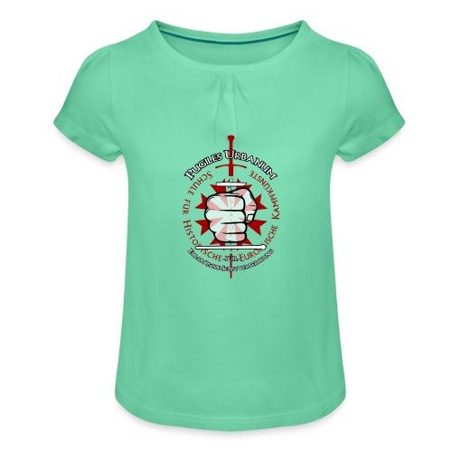 Logo frei PUR mitWa trans - Mädchen-T-Shirt mit Raffungen