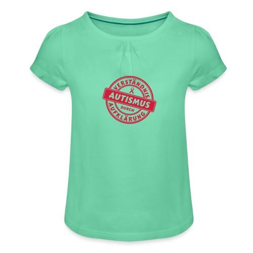 Verständnis durch Aufklärung - Mädchen-T-Shirt mit Raffungen