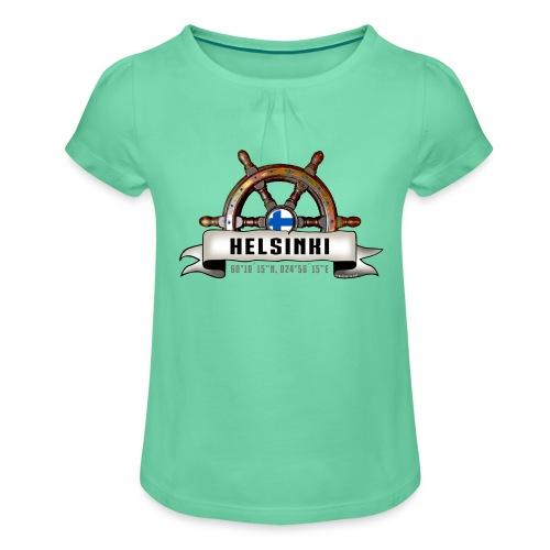 Helsinki Ruori - Merelliset tekstiilit ja lahjat - Tyttöjen t-paita, jossa rypytyksiä