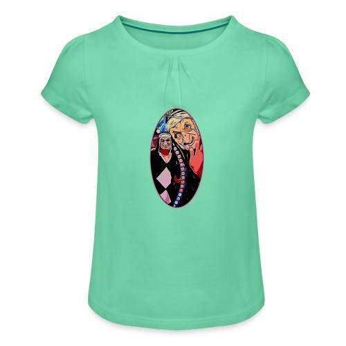 ENDO - Camiseta para niña con drapeado