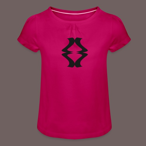 GBIGBO zjebeezjeboo - Rock - As de pique - T-shirt à fronces au col Fille