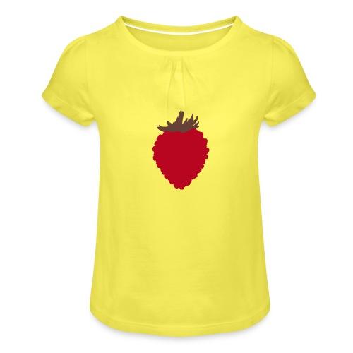 Wild Strawberry - Girl's T-Shirt with Ruffles