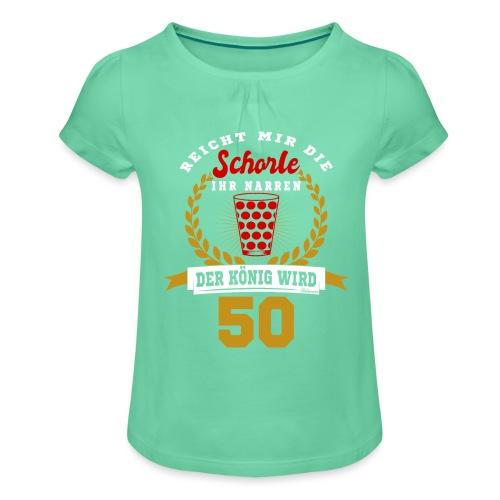 Pfälzer Legende 1969 Der König wird 50. Geburtstag - Mädchen-T-Shirt mit Raffungen