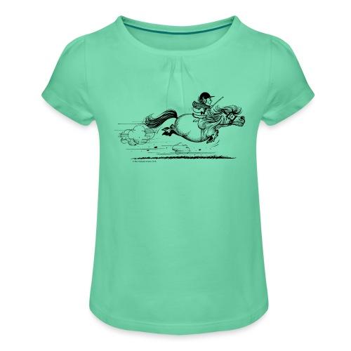 PonySprint Thelwell Cartoon - Girl's T-Shirt with Ruffles