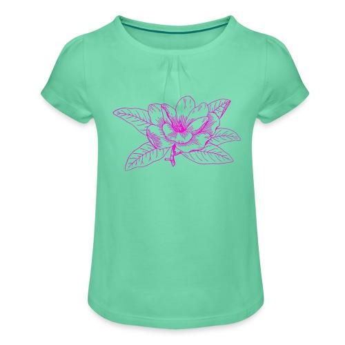 Camisetas y accesorios de flor color rosada - Camiseta para niña con drapeado