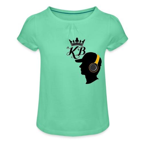 headphones - Girl's T-Shirt with Ruffles