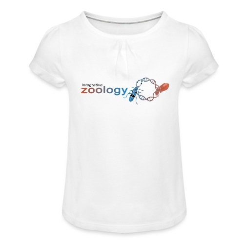 Integrative Zoology Department Logo (bright) - Girl's T-Shirt with Ruffles