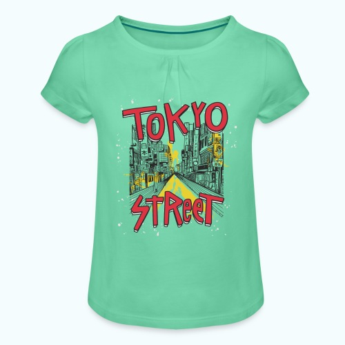Travel To Tokyo 80s Retro Vintage - Girl's T-Shirt with Ruffles