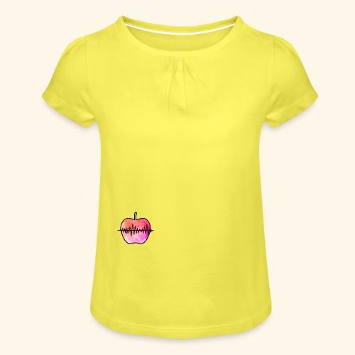AppleJazzDK Logo - Pige T-shirt med flæser
