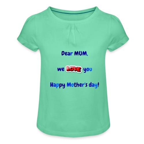 Maman - T-shirt à fronces au col Fille