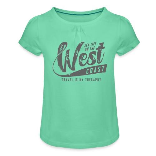 West Coast Sea Surfer Textiles, Gifts, Products - Tyttöjen t-paita, jossa rypytyksiä
