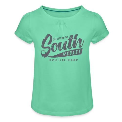 South Coast Sea surf clothes and gifts GP1305B - Tyttöjen t-paita, jossa rypytyksiä