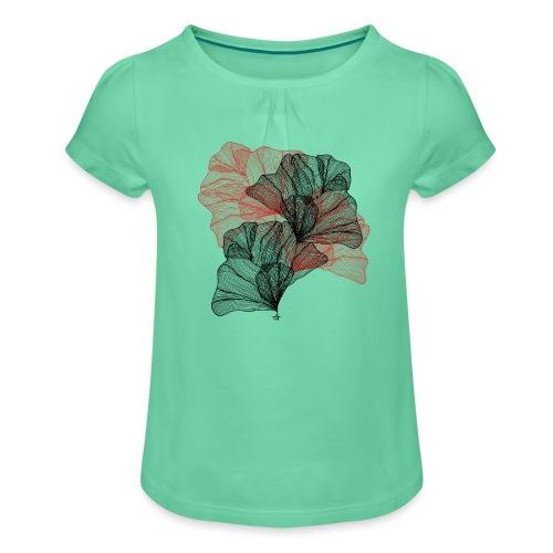 Feuilles filaires - T-shirt à fronces au col Fille