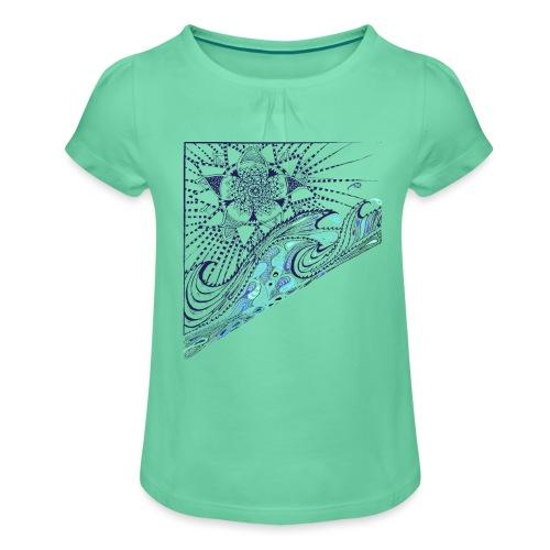 Wave - Mädchen-T-Shirt mit Raffungen
