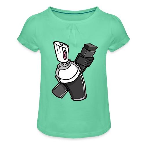 Graffity - T-shirt à fronces au col Fille