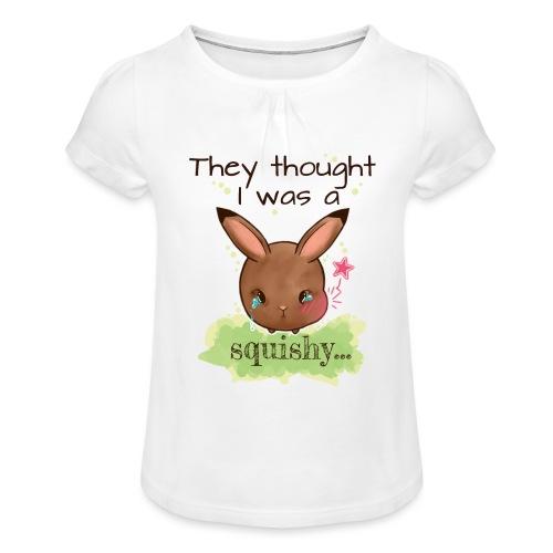 Not squishy - Girl's T-Shirt with Ruffles