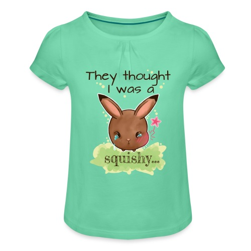 Not squishy - Girl's T-Shirt with Ruffles
