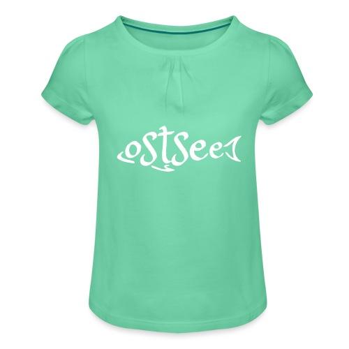 Ostsee-Fisch - Mädchen-T-Shirt mit Raffungen
