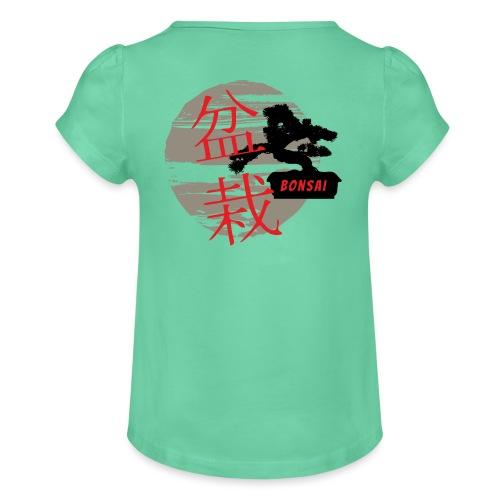 Bonsai - Koszulka dziewczęca z marszczeniami
