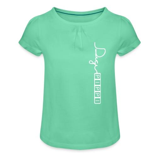 DP Logo White - Pige T-shirt med flæser