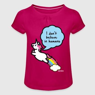 SmileyWorld I don't belive in Humans - Koszulka dziewczęca z marszczeniami