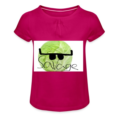 SAVAGE CABBAGE - Girl's T-shirt with Ruffles