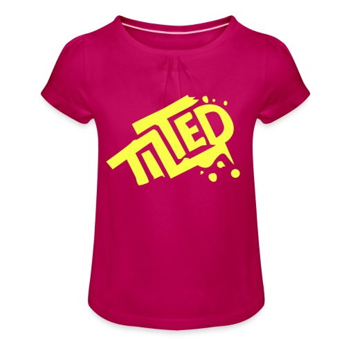 Fortnite Tilted (Yellow Logo) - Girl's T-shirt with Ruffles