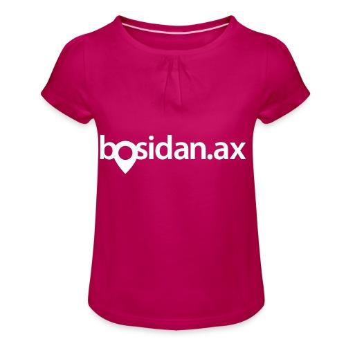 Bosidan.ax officiella logotypen - T-shirt med rynkning flicka