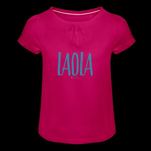 ola - Camiseta para niña con drapeado