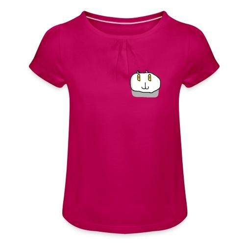 The Fierce Cat Logo - Girl's T-shirt with Ruffles