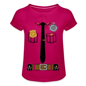 Police Patrol - Girl's T-shirt with Ruffles