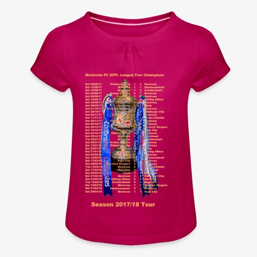 Montrose League Cup Tour - Girl's T-shirt with Ruffles
