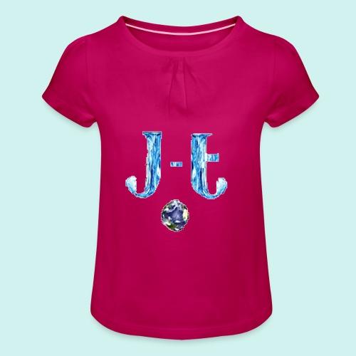 JustTomNL - Meisjes-T-shirt met plooien