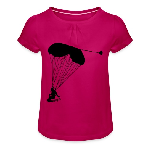 Swoop - Mädchen-T-Shirt mit Raffungen