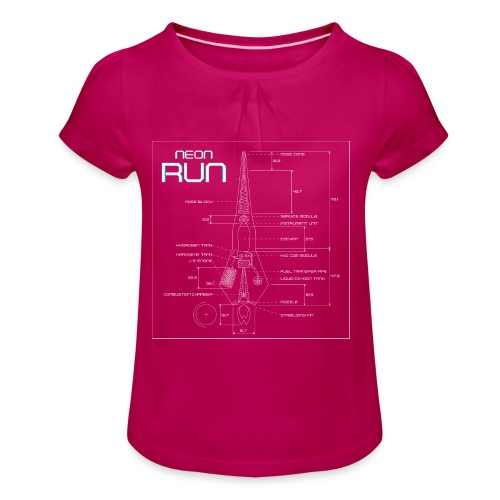 NeonRun - Meisjes-T-shirt met plooien