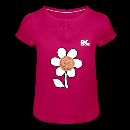 Pizzaflower Edition - Mädchen-T-Shirt mit Raffungen