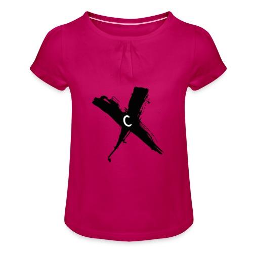 Cinnox Logo Kreuz - Mädchen-T-Shirt mit Raffungen