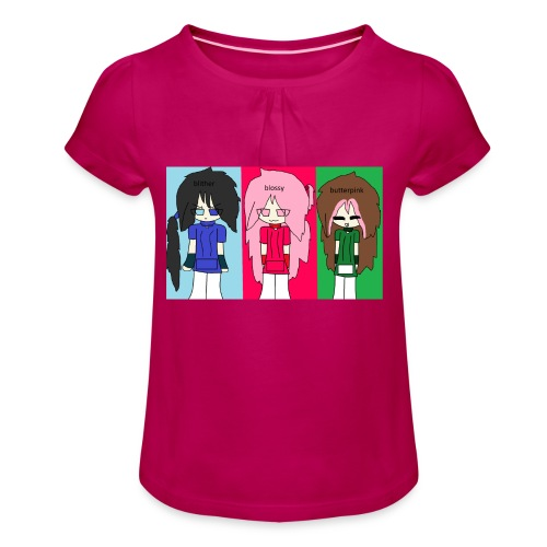 rrg team - Girl's T-Shirt with Ruffles