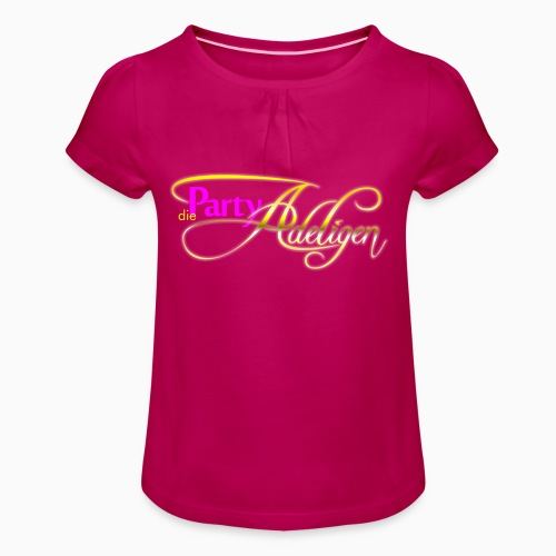 Die PartyAdeligen - Mädchen-T-Shirt mit Raffungen