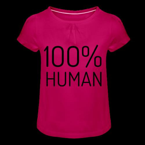 100% Human - Meisjes-T-shirt met plooien