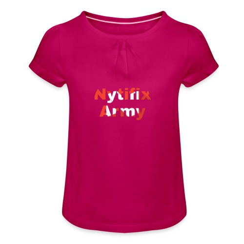 Nytifix Army T-Shirt - Mädchen-T-Shirt mit Raffungen