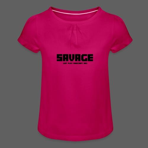 SAVAGE GAMER T-Shirt (kinderen) - Meisjes-T-shirt met plooien