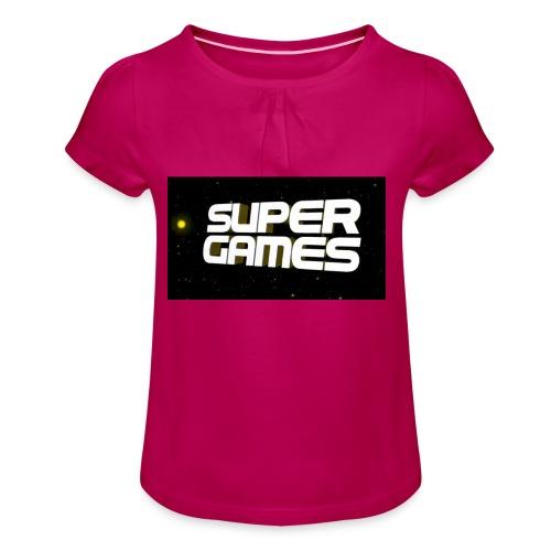 #SuperGames - Mädchen-T-Shirt mit Raffungen