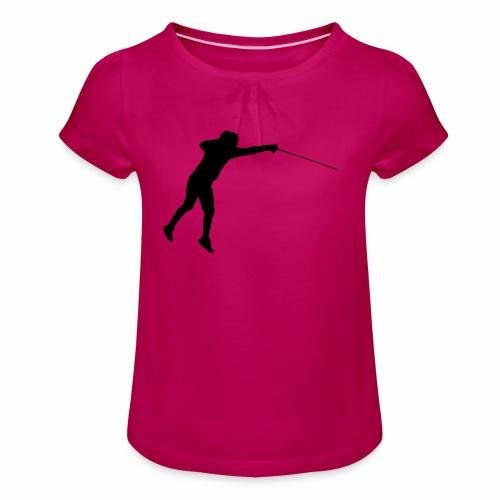 Jumping Fencer - Mädchen-T-Shirt mit Raffungen