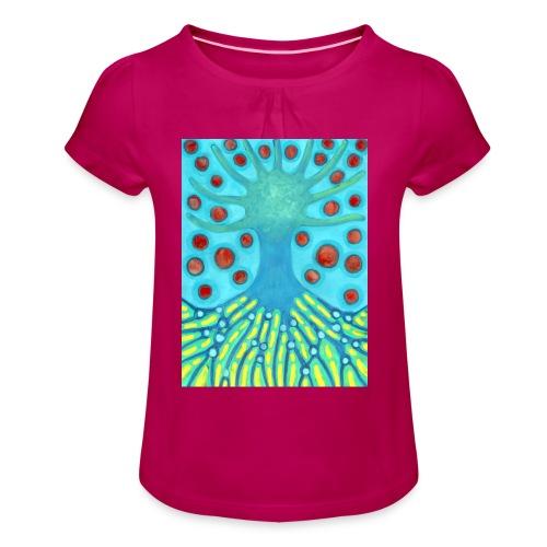 Drzewo I Planety - Koszulka dziewczęca z marszczeniami